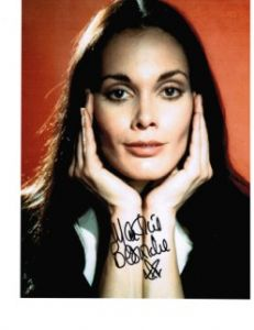 Martine Beswick signed 10 by 8 star of Hammer & Bond